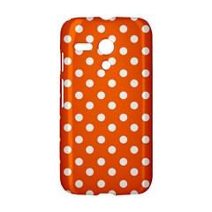 Orange And White Polka Dots Motorola Moto G