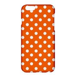 Orange And White Polka Dots Apple Iphone 6/6s Plus Hardshell Case