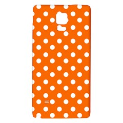 Orange And White Polka Dots Galaxy Note 4 Back Case