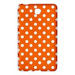 Orange And White Polka Dots Samsung Galaxy Tab 4 (7 ) Hardshell Case