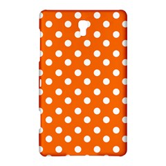 Orange And White Polka Dots Samsung Galaxy Tab S (8.4 ) Hardshell Case