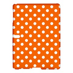 Orange And White Polka Dots Samsung Galaxy Tab S (10.5 ) Hardshell Case