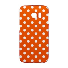 Orange And White Polka Dots Galaxy S6 Edge