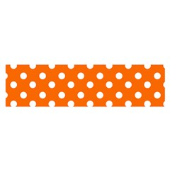Orange And White Polka Dots Satin Scarf (oblong)