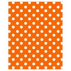 Orange And White Polka Dots Drawstring Bag (Small)