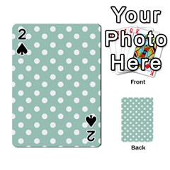 Light Blue And White Polka Dots Playing Cards 54 Designs