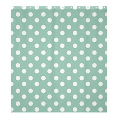 Light Blue And White Polka Dots Shower Curtain 66  x 72  (Large)