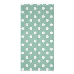 Light Blue And White Polka Dots Shower Curtain 36  x 72  (Stall)