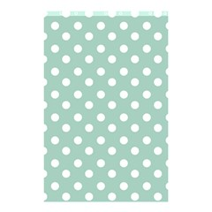 Light Blue And White Polka Dots Shower Curtain 48  x 72  (Small)