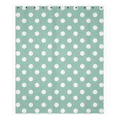 Light Blue And White Polka Dots Shower Curtain 60  x 72  (Medium)