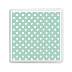 Light Blue And White Polka Dots Memory Card Reader (Square)