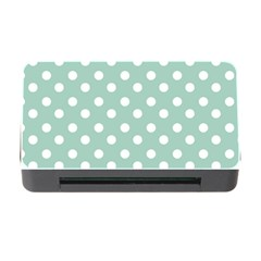 Light Blue And White Polka Dots Memory Card Reader with CF