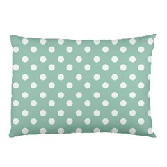 Light Blue And White Polka Dots Pillow Cases (Two Sides)