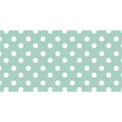 Light Blue And White Polka Dots YOU ARE INVITED 3D Greeting Card (8x4)