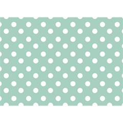 Light Blue And White Polka Dots Birthday Cake 3d Greeting Card (7x5)