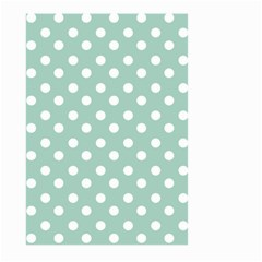 Light Blue And White Polka Dots Large Garden Flag (Two Sides)