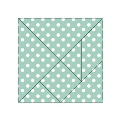 Light Blue And White Polka Dots Acrylic Tangram Puzzle (4  X 4 )