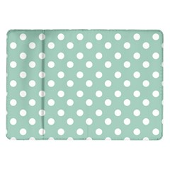 Light Blue And White Polka Dots Samsung Galaxy Tab 10 1  P7500 Flip Case