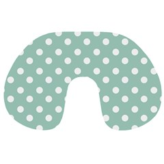 Light Blue And White Polka Dots Travel Neck Pillows
