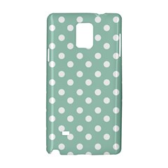 Light Blue And White Polka Dots Samsung Galaxy Note 4 Hardshell Case