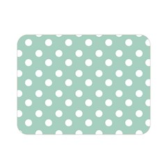 Light Blue And White Polka Dots Double Sided Flano Blanket (Mini)