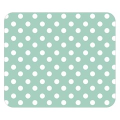 Light Blue And White Polka Dots Double Sided Flano Blanket (Small)