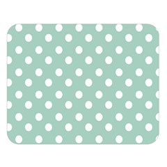 Light Blue And White Polka Dots Double Sided Flano Blanket (large)
