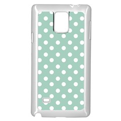 Light Blue And White Polka Dots Samsung Galaxy Note 4 Case (white)