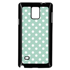 Light Blue And White Polka Dots Samsung Galaxy Note 4 Case (Black)