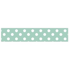 Light Blue And White Polka Dots Flano Scarf (small)