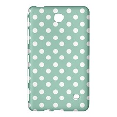 Light Blue And White Polka Dots Samsung Galaxy Tab 4 (7 ) Hardshell Case