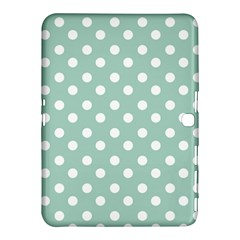 Light Blue And White Polka Dots Samsung Galaxy Tab 4 (10.1 ) Hardshell Case