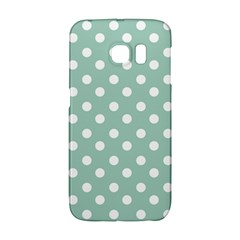 Light Blue And White Polka Dots Galaxy S6 Edge