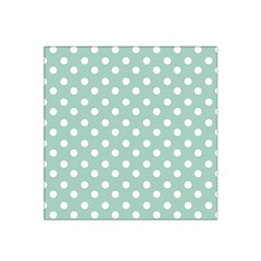 Light Blue And White Polka Dots Satin Bandana Scarf