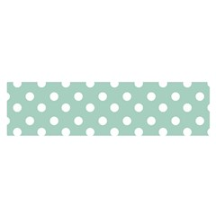 Light Blue And White Polka Dots Satin Scarf (Oblong)