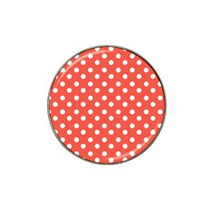 Indian Red Polka Dots Hat Clip Ball Marker (4 Pack)
