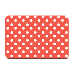 Indian Red Polka Dots Plate Mats