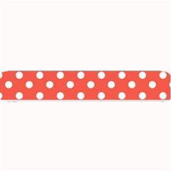 Indian Red Polka Dots Small Bar Mats