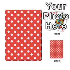 Indian Red Polka Dots Multi Purpose Cards (rectangle)