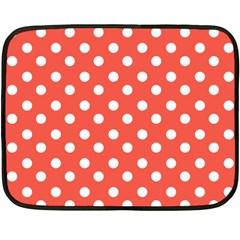 Indian Red Polka Dots Fleece Blanket (Mini)