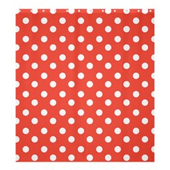 Indian Red Polka Dots Shower Curtain 66  x 72  (Large)