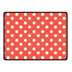 Indian Red Polka Dots Fleece Blanket (small)