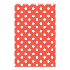 Indian Red Polka Dots Shower Curtain 48  X 72  (small)