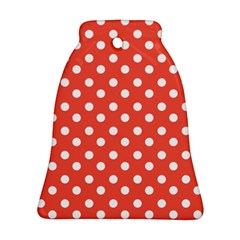 Indian Red Polka Dots Bell Ornament (2 Sides)
