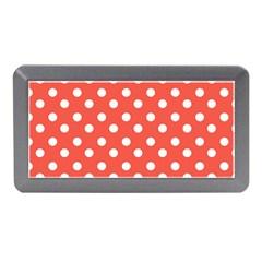 Indian Red Polka Dots Memory Card Reader (Mini)