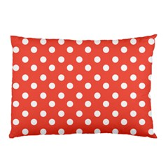 Indian Red Polka Dots Pillow Cases (Two Sides)