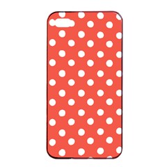 Indian Red Polka Dots Apple Iphone 4/4s Seamless Case (black)