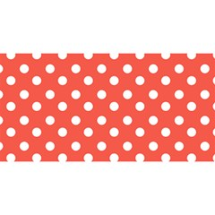 Indian Red Polka Dots YOU ARE INVITED 3D Greeting Card (8x4)