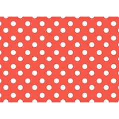 Indian Red Polka Dots Birthday Cake 3D Greeting Card (7x5)