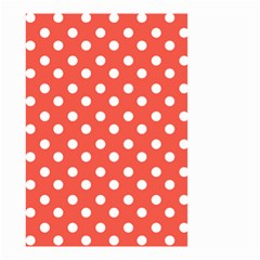 Indian Red Polka Dots Small Garden Flag (two Sides)